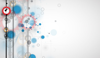 Abstract tech background. Futuristic technology interface. Vector for business solution