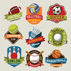 Sport logotypes set. Sport design elements, logos, badges, labels, icons and objects