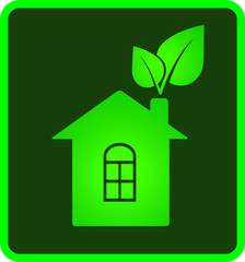 icon of eco house