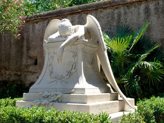 Angel of Grief. Found in the Protestant Cemetery in Rome.