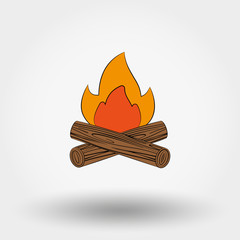 Bonfire vector icon.