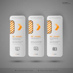 Modern tabs as design elements. Business symbols.