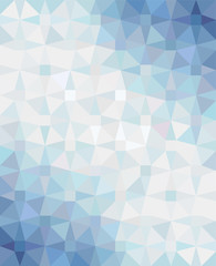 Abstract geometric background with blue-white-blue gradient. Vector illustration.