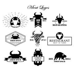 Meat logos, badges, labels and design elements