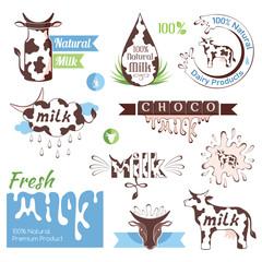 Milk decorative elements