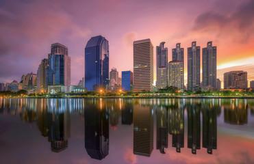 Bangkok city downtown at sunrise