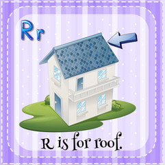 Alphabet R is for roof