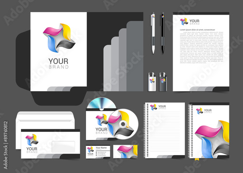 """Corporate identity template color company style for brandbook"""" Stock ..."""