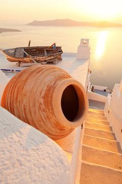 Old boat in Firostefani, Santorini