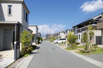 新築分譲住宅街 イメージ