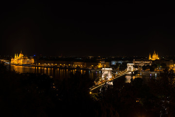 Night panorama view of Budapest