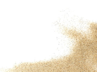 pile desert sand isolated on white background Wall mural