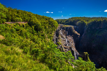 Foto op Canvas Australië Barron Falls and Kuranda Scenic Railways, Queensland, Australia