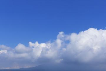 空と雲 青空 背景用 コピースペース