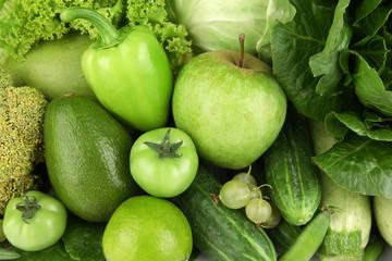Fresh green food, closeup