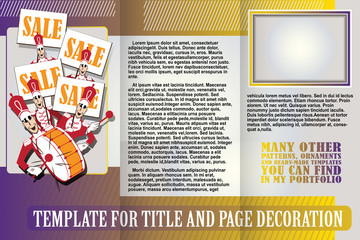vector template booklet with orchestra going on sale