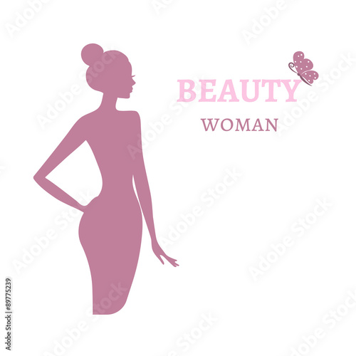 Beauty logo template background with beautiful woman silhouette beauty logo template background with beautiful woman silhouette fashion model vector illustration card pronofoot35fo Gallery