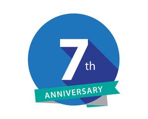 7 Anniversary Blue Circle Logo