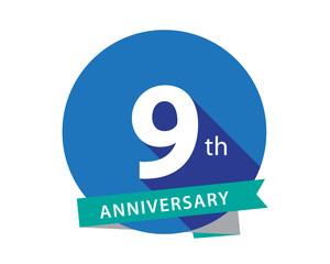 9 Anniversary Blue Circle Logo