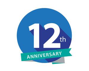 12 Anniversary Blue Circle Logo
