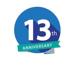 13 Anniversary Blue Circle Logo