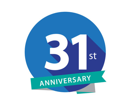 31 Anniversary Blue Circle Logo