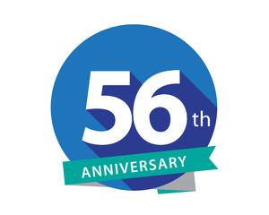 56 Anniversary Blue Circle Logo