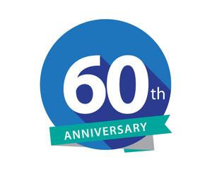60 Anniversary Blue Circle Logo