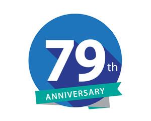 79 Anniversary Blue Circle Logo