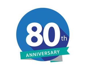 80 Anniversary Blue Circle Logo