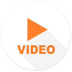 video flat design modern icon