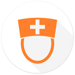 nurse flat design modern icon