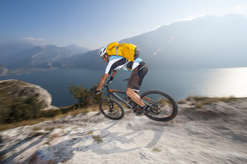 blurred motion mountainbike downhill