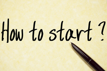 how to start question write on paper
