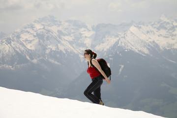 Frau, Wandern in den Schladminger Tauern, Steiermark, Österreich