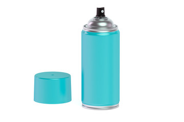 ligt blue spray paint can