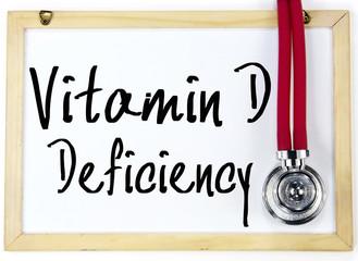 vitamin d deficiency text write on blackboard