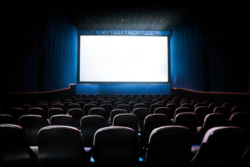 Wall Murals Theater High contrast image of movie theater screen