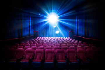 Printed roller blinds Theater High contrast image of empty movie theater seats