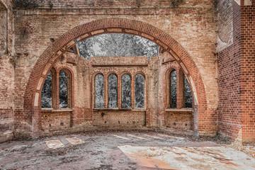 beautiful decay church Wall mural
