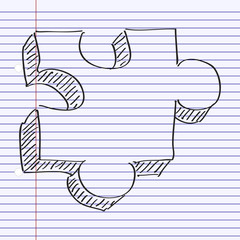 Simple doodle of a jigsaw piece