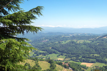 Mombarcaro (Cuneo): the viewpoint. Color image