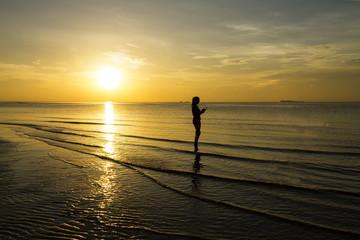 Sunrise lady relax