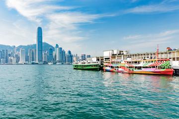 The Hong Kong ferry port