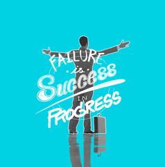 Failure Success Progress Business Accomplishment Concept