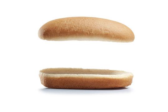 Hot dog burger isolated white background.