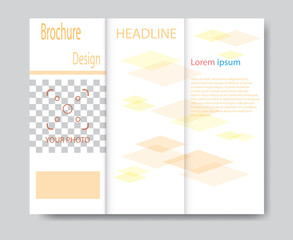 Vector brochure template design with orange elements. EPS 10