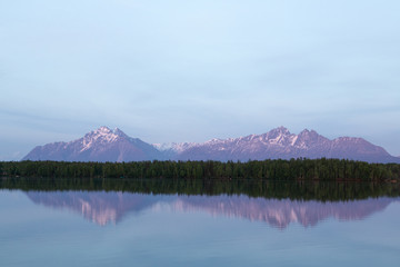 Aluminium Prints Reflection Reflections of Mountains