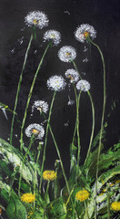 June dandelions are danced at night