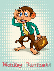English idiom monkey business